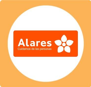 Logo ALARES CUADRADO AMARILLO ENTIDADES CEDDD