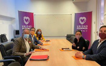 CEDDD traslada sus demandas al Grupo Parlamentario de Unidas Podemos